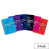 Campus A5 Plus Project Book Laminated Card Cover Wirebound 140 Pages 2 Hole 90gsm  Ref 400013922
