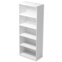 Trexus Tall Bookcase with Adjustable Shelves and Floor-leveller Feet W800xD420xH2053mm White