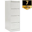 Bisley 4 Drawer Filing Cabinet White BS4E