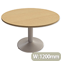 Trexus Boardroom Table Round Pillar Legs Dia1200xH725mm Beech