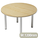 Trexus Boardroom Table Round Post Leg Dia1200xH725mm Maple