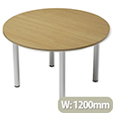 Trexus Boardroom Table Round Post Leg Dia1200xH725mm Oak