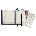 Collins Elite 2014 Executive Diary Wirobound Day to Page Hourly W164xH246mm Black Ref 1100VBLK