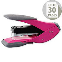 Rexel Easy Touch Stapler Half Strip Capacity 30 Sheets Pink Pack of 6 Ref 2102636