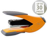 Rexel Easy Touch Stapler Flat Clinch Half Strip Capacity 30 Sheets Orange Ref 2102638