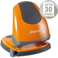 Rexel Easy Touch Low Force 2 Hole Punch Capacity 30x 80gsm Orange Ref 2102642