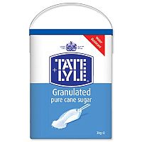Tate & Lyle Pure Cane Sugar White Granulated Drum with Handle 3kg Ref A03917