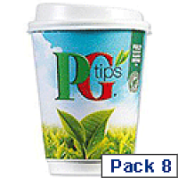 PG Tips Instant White Tea Drink in a 12oz (340ml) Cup Ref A03292 [Pack 8]