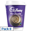 Cadbury Instant Hot Chocolate Drink in a 12oz (340ml) Cup Ref A03294 [Pack 8]