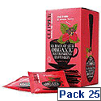 Clipper Organic Red Fruits and Aronia Tea Fairtrade Caffeine-free Teabags Ref A07614 [Pack 25]