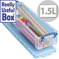 Storage Box Plastic Lightweight Robust Stackable 1.5 Litre Clear Really Useful