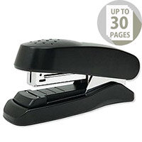 Rapesco Flat Clinch Stapler Half Strip 26/6 Black Ref 1064