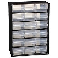 Raaco Steel Cabinet 18 Polypropylene Drawers Black Ref 110129