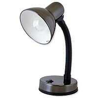 Searchlight Electric Flexible Neck Desk Lamp 40W Black Chrome Ref L1105BH