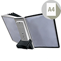 Durable Sherpa Desk Extension Unit Complete 10 Index Tabs with 5 Black and 5 Grey Panels Ref 5811/22