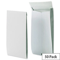 Securitex Tear Resistant C4 34mm Gusset Envelopes Pocket 130gsm White Pack of 50