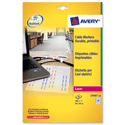 Avery L7950-20 Cable Marker Labels Laser Folding 60-45x40mm 480 Labels