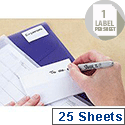 Avery Multipurpose Labels Pad Permanent 94x70mm White Ref 5050 [25 Labels]
