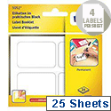 Avery Multipurpose Labels Pad Permanent 45x30mm White Ref 5052 [75 Labels]