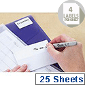 Avery Multipurpose Labels Pad Permanent 80x23mm White Ref 5054 [100 Labels]