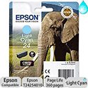 Epson 24 Inkjet Cartridge Capacity 5.1ml Page Life 360pp Light Cyan Ref T24254010