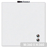 Quartet Magnetic Drywipe Board Square Tile White Ref 1903802