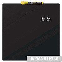 Quartet Magnetic Drywipe Board Square Tile Black Ref 1903774