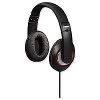 Hama HK-3033 Headphones Padded Over-Ear Stereo, 5m Cable, 32Ohm, Black