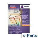 Avery ReadyIndex Dividers L7451-5 A4 5-Part Plain Tabs Ref 1970501