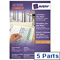 Avery Indexmaker Dividers L7455-5M A4 Plus 5 Part Extra Wide White Ref 01998051
