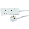 Extension Lead 2-Way Socket 2m Cable