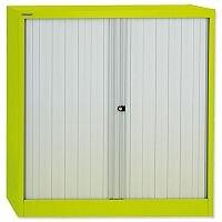 Bisley GLO Tambour Cupboard Steel Side-opening H1016mm Green Ref AST40W Lime