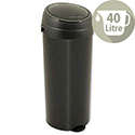 Round Press Top Deluxe Bin Black 40 Litre Ref SPCBBO40BLK