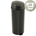 Round Press Top Deluxe Bin Black 60 Litre Ref SPCBBO60BLK