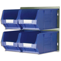 Barton Bin Kit Louvred Panel and 4 x TC4 Bins Blue Ref 010097GB