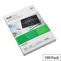 GBC Laminating Pouches Matt 150 Micron for A4 Pack 100