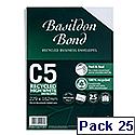 Basildon Bond C5 White 100gsm Envelopes Peel and Seal Pocket Pack 25 Ref R10047