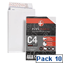 Plus Fabric Envelopes C4 Gusset White Pack 10 Ref R0007