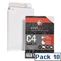 Plus Fabric Envelopes C4 Gusset White Pack 10 Ref R0007