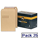New Guardian C5 Manilla 130gsm Envelopes Peel and Seal Pocket Pack 25 Ref R10001
