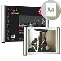 Snap Frame 2 sided Aluminium A4 Ref AS11