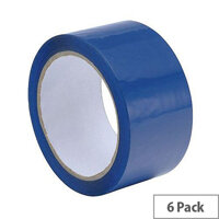 Polypropylene Packing Tape 50mmx66m Blue (Pack 6)
