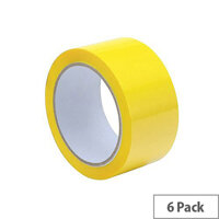 Packing Tape Polypropylene 50mmx66m Yellow (Pack 6)