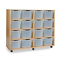 Trexus by Monarch Mobile Unit Complete with 16 Clear Extra Deep Trays Beech Ref MEQ3116-16 Clear