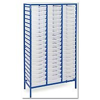 Trexus by Monarch Mobile Unit Metal Frame Complete with 57 Clear Shallow Trays Ref EF8028-57 Clear