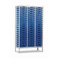 Trexus by Monarch Mobile Unit Metal Frame Complete with 57 Blue Shallow Trays Ref EF8028-57 Blue