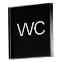 Sigel Pictogram Acrylic Sign WC Black 85x85x8mm