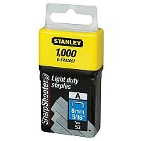 Stanley Light Duty Staples 8mm Pack 1000