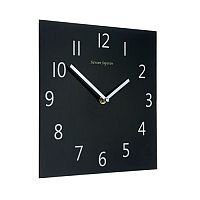 Wall Clock Square Black Face