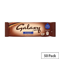 Galaxy Instant Hot Drinking Chocolate Powder Sachets 25g (Pack 50)